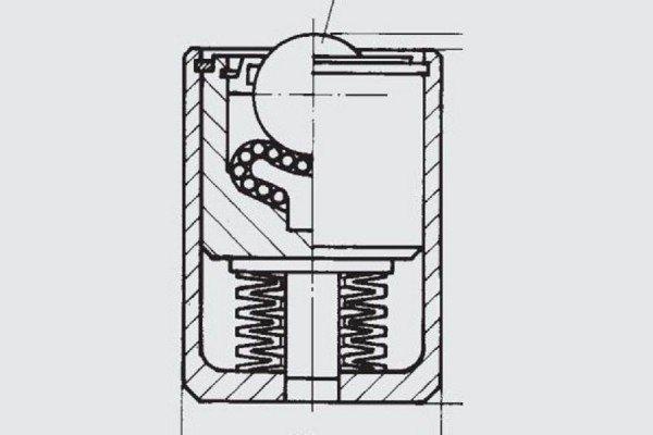 Gefederte Schwerlast-Kugelrolle - FR01-060