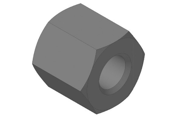 Trapezgewindetriebe - Messing Sechskantmutter - QKM14x4L6